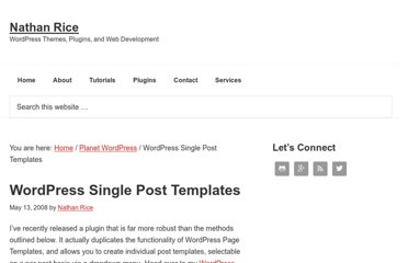 http://www.nathanrice.net/blog/wordpress-single-post-templates/