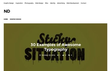http://neatdesigns.net/30-examples-of-awesome-typography/