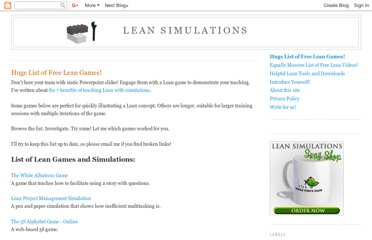 http://www.leansimulations.org/p/huge-list-of-free-lean-games.html