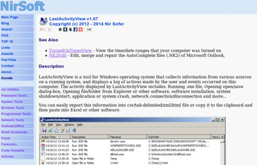 http://www.nirsoft.net/utils/computer_activity_view.html