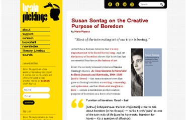 http://www.brainpickings.org/index.php/2012/10/26/susan-sontag-on-boredom/