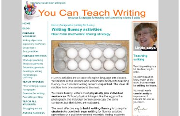 http://www.you-can-teach-writing.com/fluency-activities.html