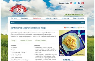 http://www.safeeggs.com/recipe/lightened-up-spaghetti-carbonara-recipe