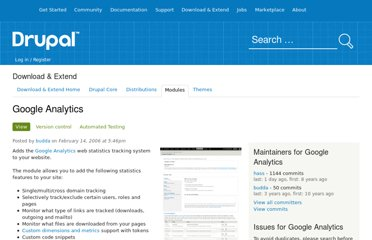 http://drupal.org/project/google_analytics