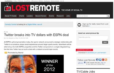 http://lostremote.com/espn-partners-with-twitter-for-big-tv-sports-events_b29357