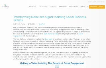 http://www.dachisgroup.com/2012/10/transforming-noise-into-signal-isolating-social-business-results/