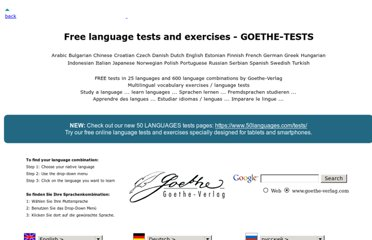 http://www.goethe-verlag.com/tests/index1.htm