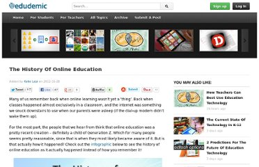 http://edudemic.com/2012/10/the-history-of-online-education/