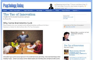 http://www.psychologytoday.com/blog/the-tao-innovation/201210/why-some-brainstorms-suck
