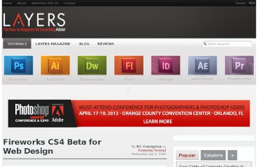 http://layersmagazine.com/fireworks-cs4-beta-for-web-design.html