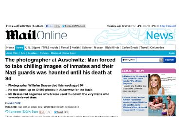 http://www.dailymail.co.uk/news/article-2224026/The-photographer-Auschwitz-Man-forced-chilling-images-Jewish-prisoners-haunted-death-94.html