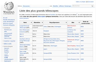 http://fr.wikipedia.org/wiki/Liste_des_plus_grands_t%C3%A9lescopes