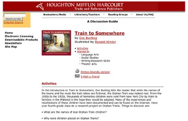 http://www.houghtonmifflinbooks.com/readers_guides/bunting/train.shtml
