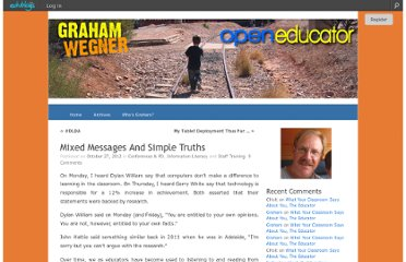 http://gwegner.edublogs.org/2012/10/27/mixed-messages-and-simple-truths/