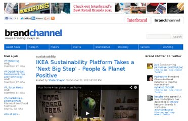 http://www.brandchannel.com/home/post/2012/10/26/Ikea-Sustainability-2012-102612.aspx