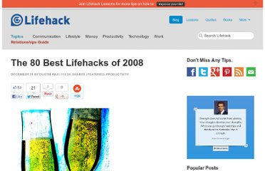http://www.lifehack.org/articles/productivity/the-80-best-lifehacks-of-2008.html
