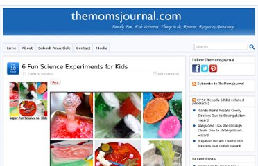 http://www.themomsjournal.com/6-fun-science-experiments-for-kids/