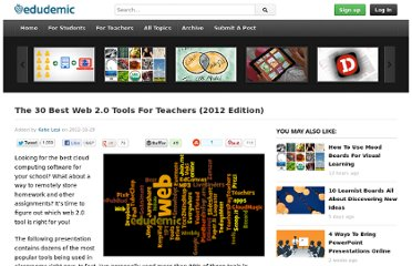 http://edudemic.com/2012/10/best-web-tools-2012/