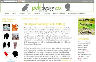 http://blog.petitdesignco.com/2012/10/31-days-of-walking-foot-quilting.html