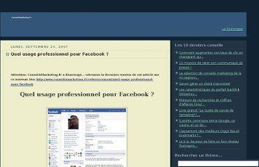 http://conseilsenmarketing.blogspot.com/2007/09/quel-usage-professionnel-pour-facebook.html