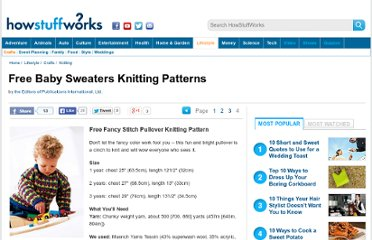 http://tlc.howstuffworks.com/home/free-baby-sweaters-knitting-patterns3.htm