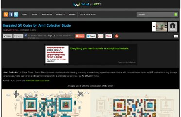 http://whatanart.com/2012/10/04/illustrated-qr-codes-am-i-collective-studio/