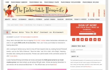 http://www.thefashionablehousewife.com/category/coupons-samples/