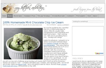 http://www.mykitchenaddiction.com/2010/04/100-homemade-mint-chocolate-chip-ice-cream/