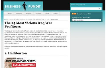 http://www.businesspundit.com/the-25-most-vicious-iraq-war-profiteers/