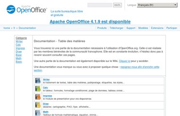 http://www.openoffice.org/fr/Documentation/