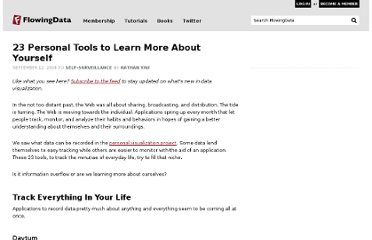 http://flowingdata.com/2008/09/12/23-personal-tools-to-learn-more-about-yourself/