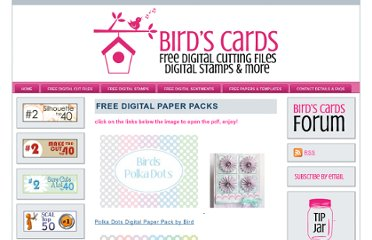 http://www.birdscards.com/paper-downloads/free-digital-paper-packs/