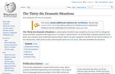 http://en.wikipedia.org/wiki/The_Thirty-Six_Dramatic_Situations