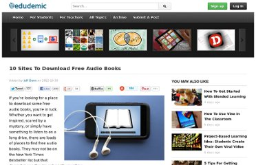 http://edudemic.com/2012/10/10-sites-to-download-free-audio-books/