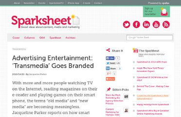 http://sparksheet.com/advertising-entertainment-transmedia-brands/