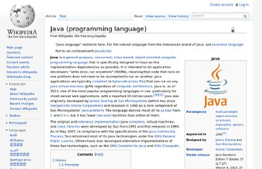 http://en.wikipedia.org/wiki/Java_(programming_language)