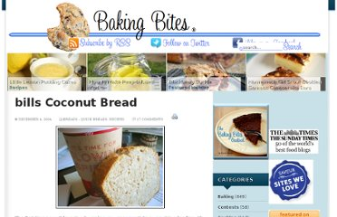 http://bakingbites.com/2004/12/bills-coconut-bread/