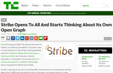 http://techcrunch.com/2010/07/06/stribe-open/