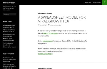 http://www.markdevisser.com/2010/02/a-spreadsheet-model-for-viral-growth/