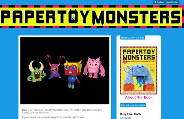 http://papertoymonsters.tumblr.com/
