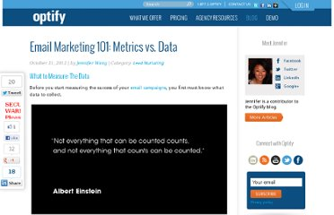 http://www.optify.net/lead-nurturing/email-marketing-101-metrics-vs-data
