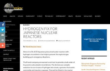 http://www.eurasiareview.com/21102012-hydrogen-fix-for-japanese-nuclear-reactors/