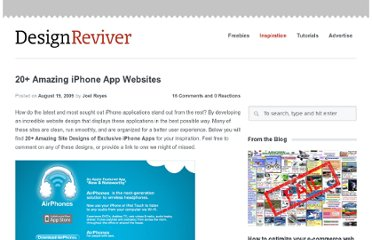 http://designreviver.com/inspiration/20-amazing-iphone-app-website/