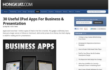 http://www.hongkiat.com/blog/useful-ipad-apps-for-business-presentation/