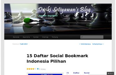 http://dwikisetiyawan.wordpress.com/2010/07/07/15-daftar-social-bookmark-indonesia-pilihan/