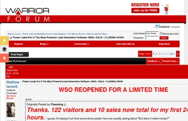 http://www.warriorforum.com/warrior-special-offers-forum/265549-most-powerful-lead-generation-software-2521-sold-offliners-wet-dream-unlimited-leads.html