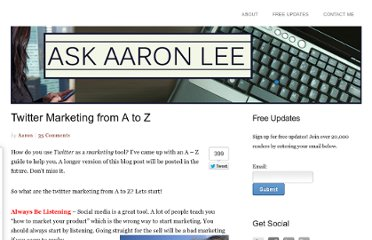 http://askaaronlee.com/twitter-marketing-from-a-to-z/