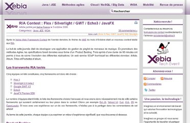 http://blog.xebia.fr/2008/10/03/ria-contest-flex-silverlight-gwt-echo3-javafx/