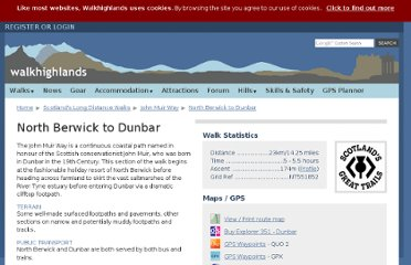 http://www.walkhighlands.co.uk/lothian/north-berwick-dunbar.shtml