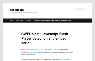 http://blog.deconcept.com/swfobject/